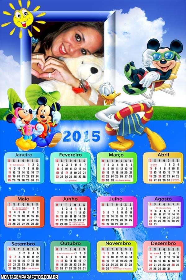 Calendário 2015 Férias Mickey