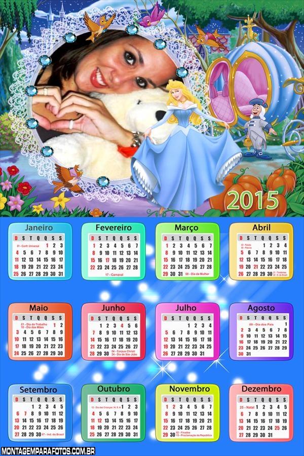 Calendário 2015 Ciderela