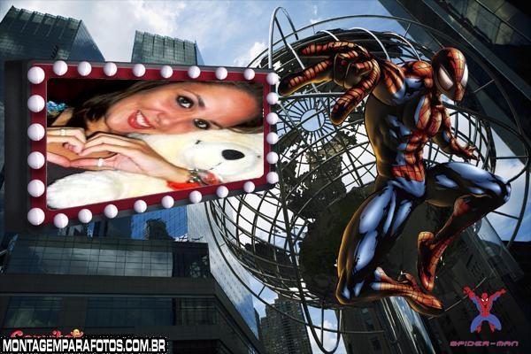 Moldura Spider Man Musculoso