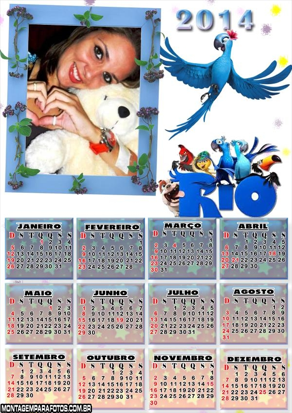 Calendário 2014 Filme Rio