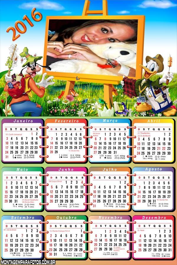 Calendário Patetá Pintando 2016
