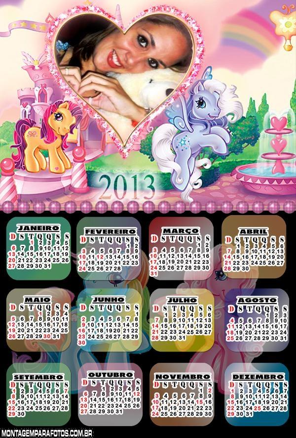 Calendário 2013 Poneys Barbie