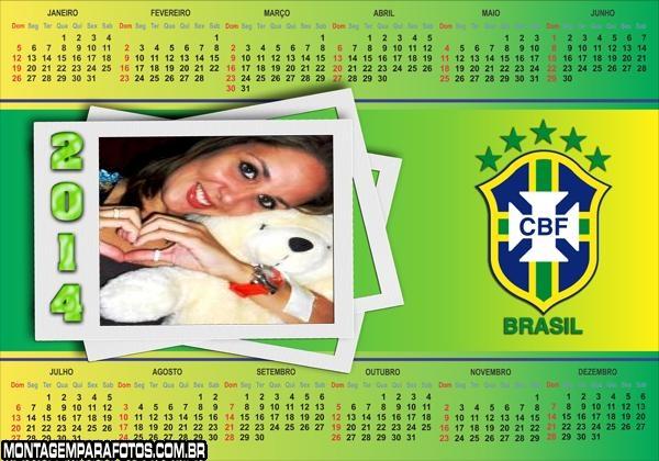 Calendário 2014 Brasil CBF