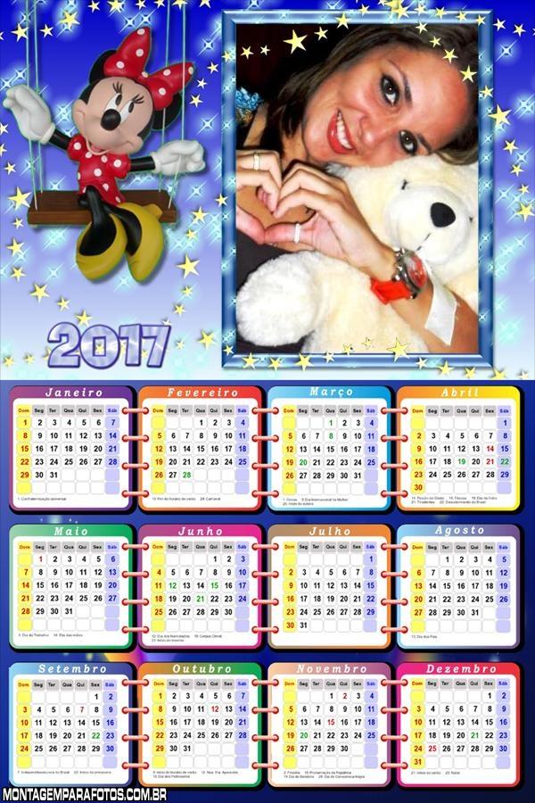 Calendário 2017 da Minnie