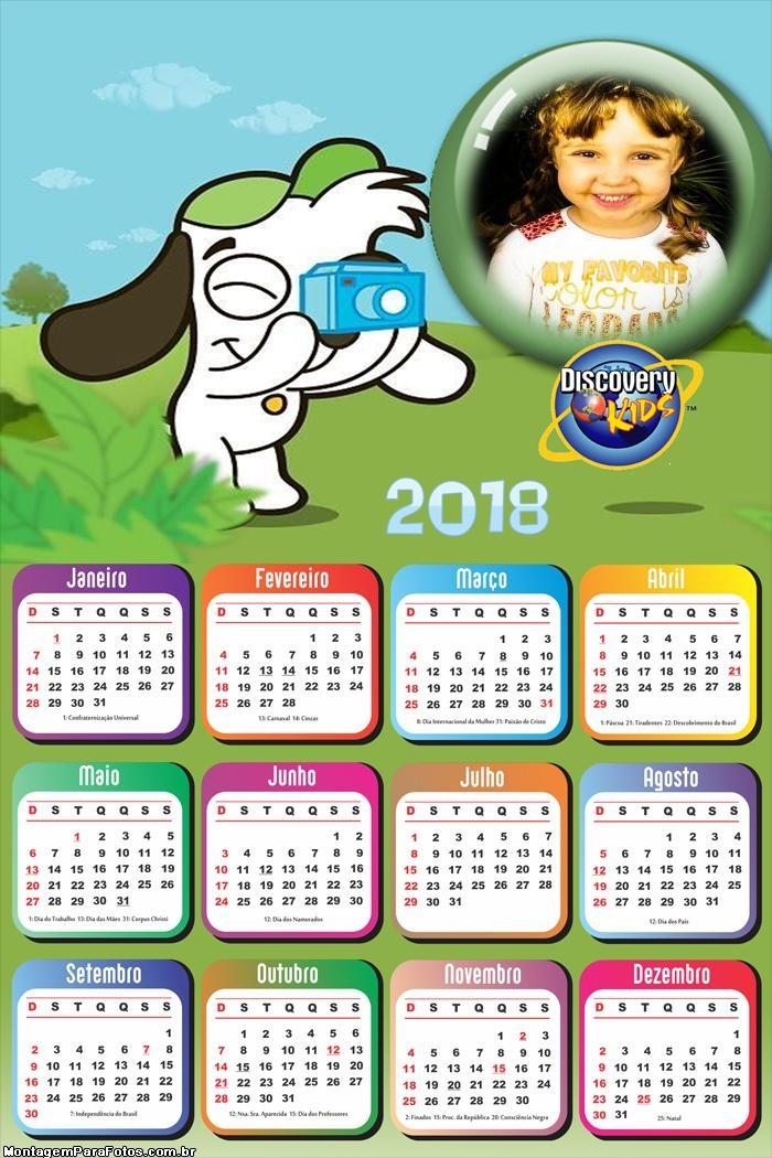 Calendário 2018 Doki Desenho