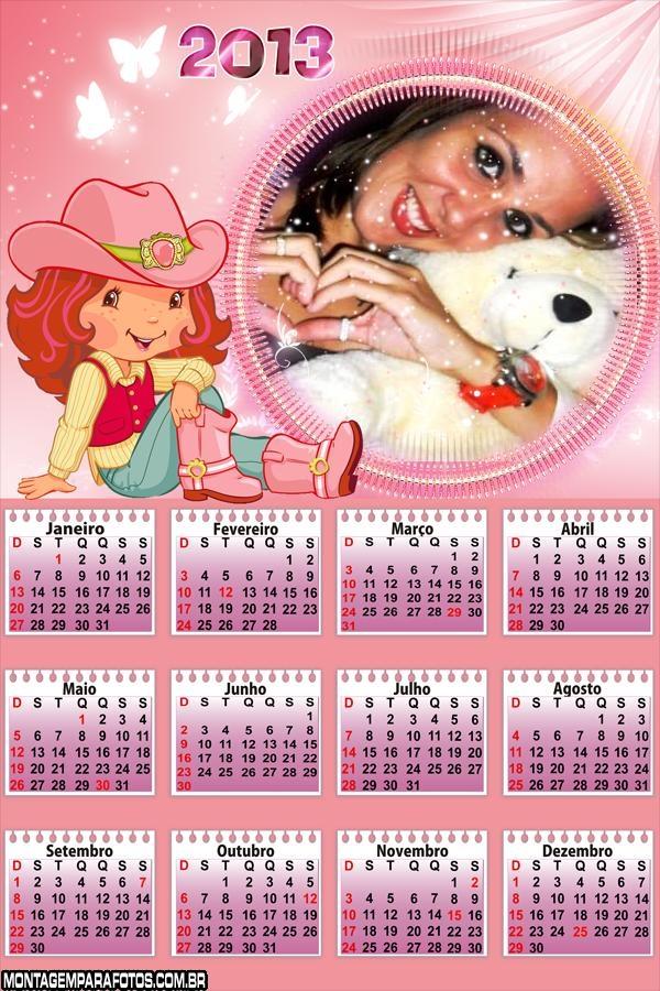 Calendário Moranguinho 2013