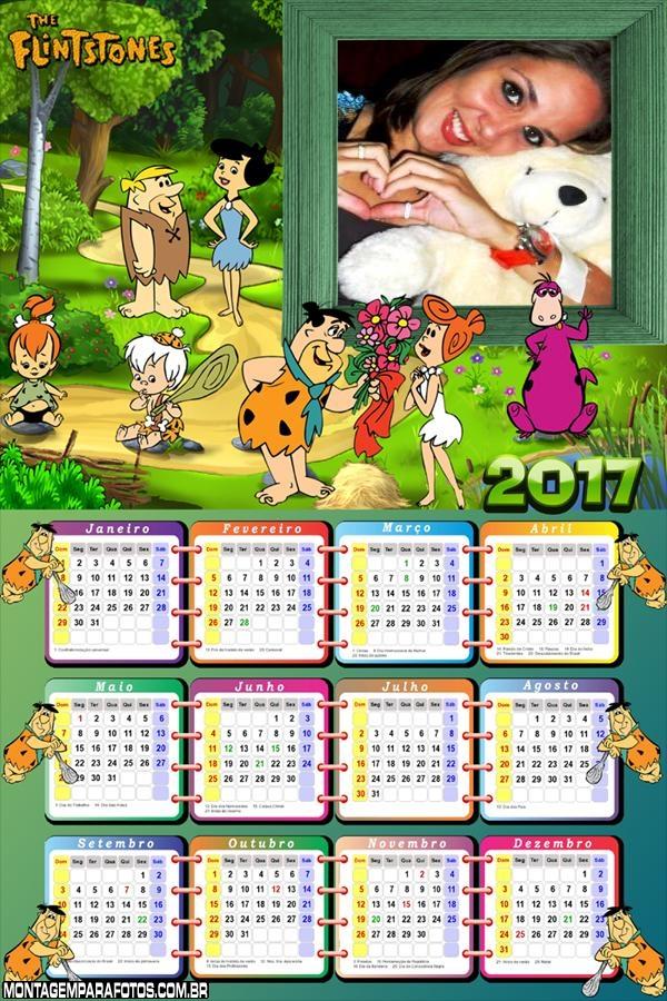 Calendário 2017 Os Flintstones