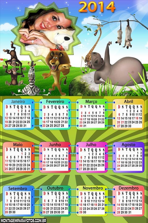 Calendário 2014 Madagascar