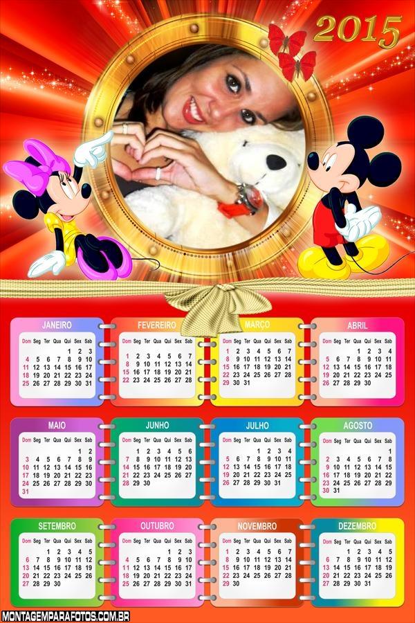 Calendário 2015 Vermelho