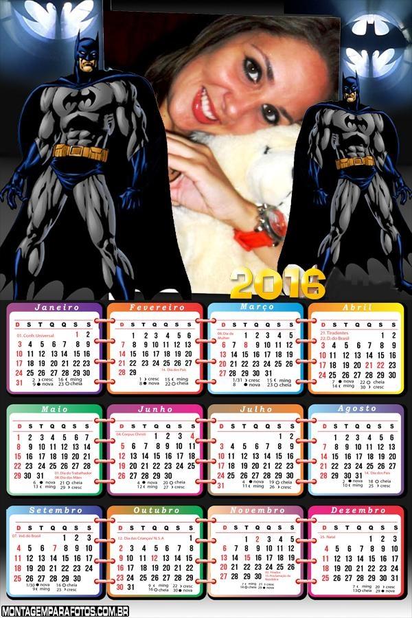Calendário do Batman 2016