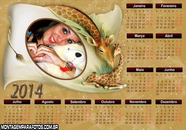 Calendário 2014 Mãe Girafa