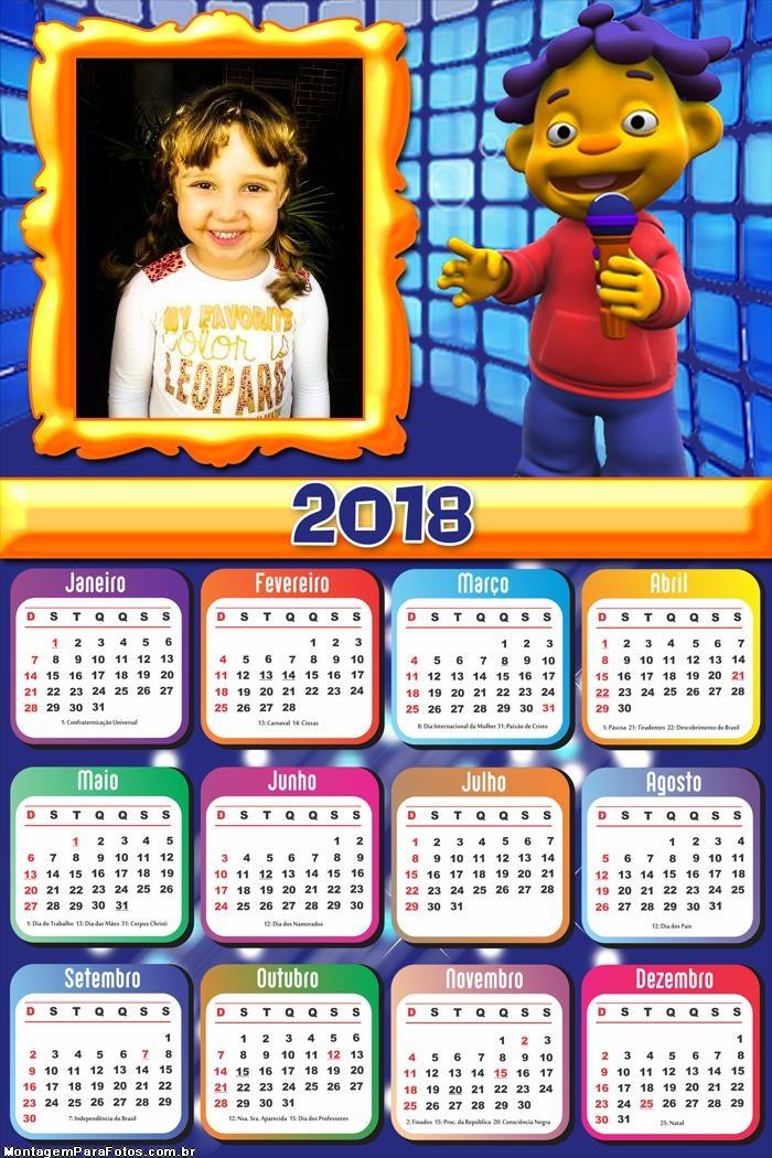 Calendário 2018 Cid Cientista