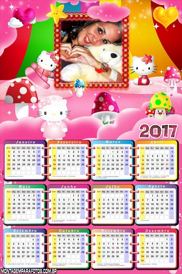 Calendário 2017 Hello Kitty Rosa