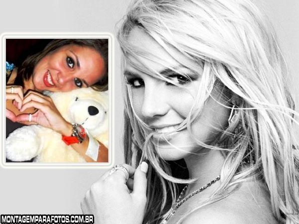 Cantora Britney Spears Moldura