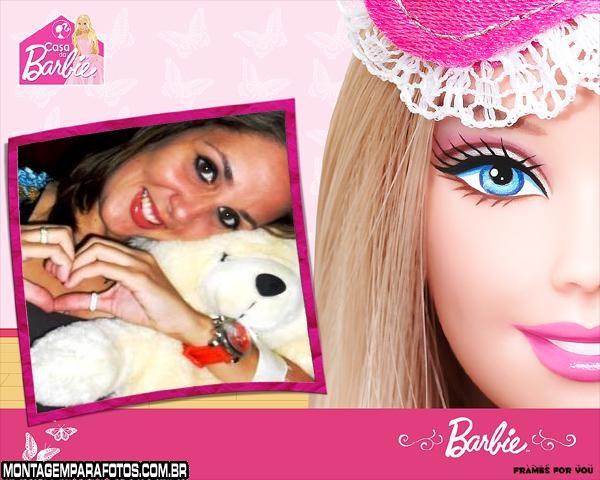 Moldura Rosto da Barbie