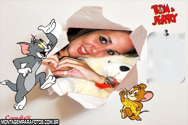 Moldura Tom e Jerry Desenho