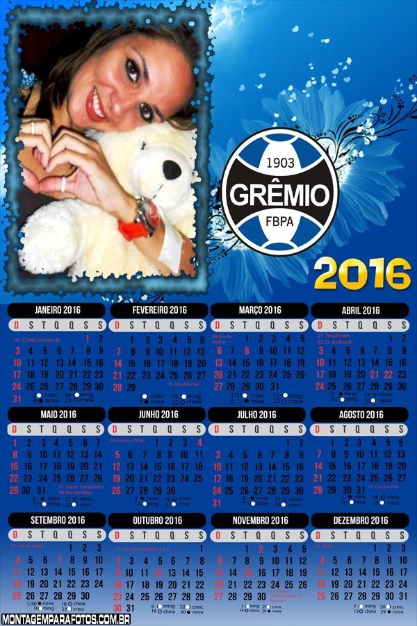 Calendário Grêmio Futebol 2016