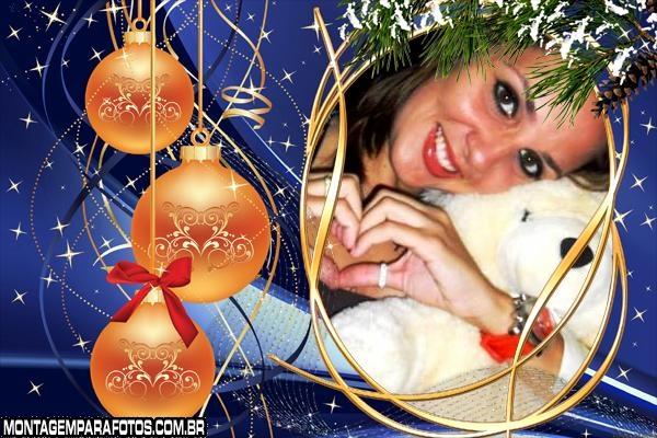 Bolinhas de Natal Moldura