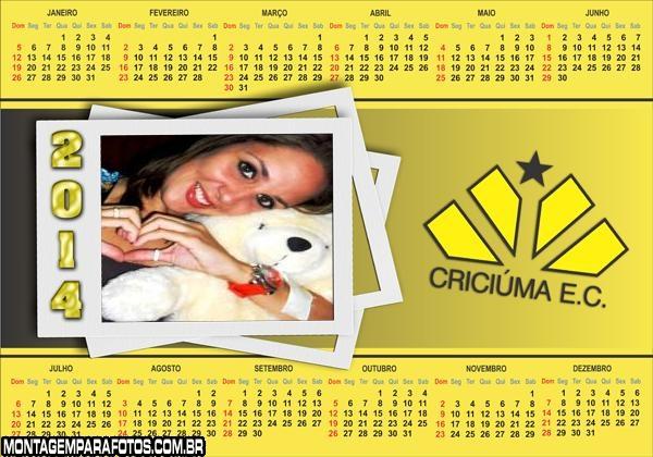 Calendário 2014 Criciúma