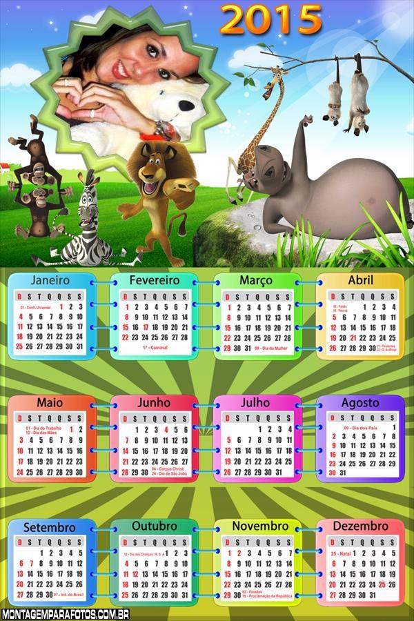 Calendário 2015 Madagascar