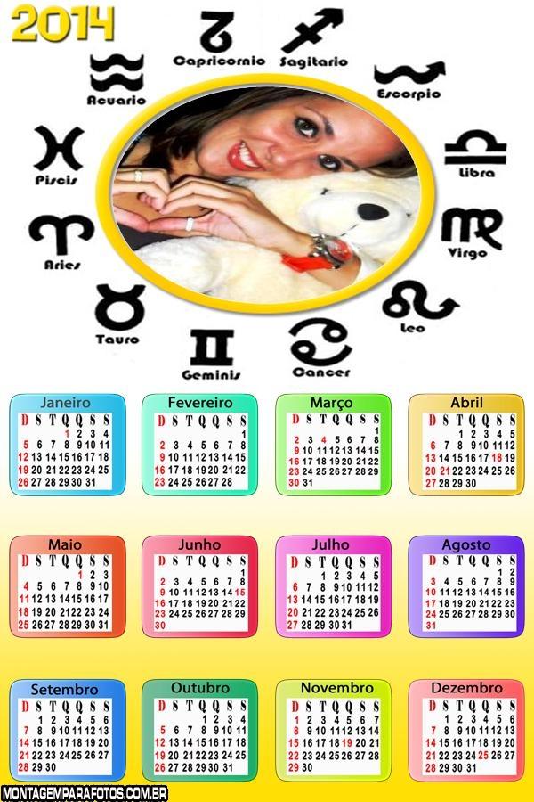 Calendário Horóscopo 2014