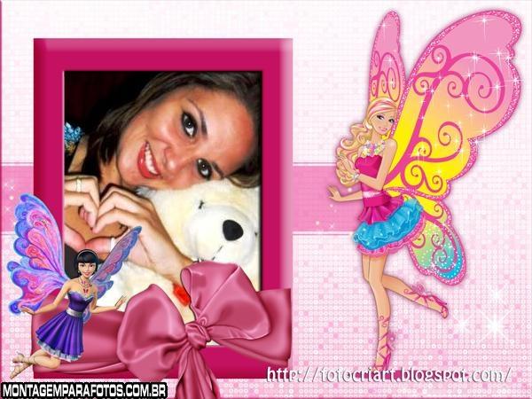 Moldura Borboletas Barbie