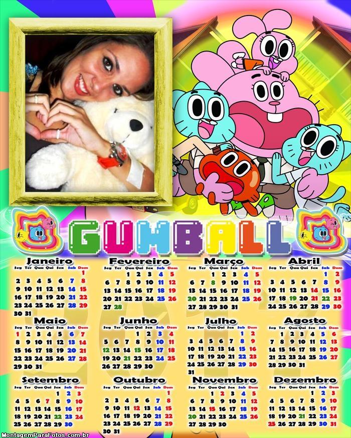 Calendário 2017 Gumball