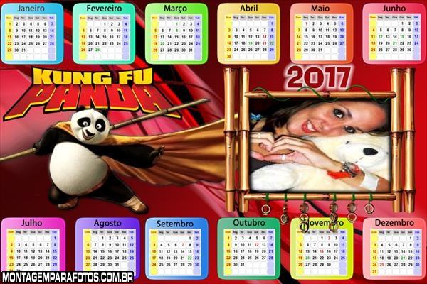 Calendário 2017 Kung Fu Horizontal