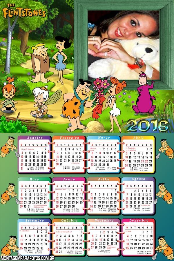Calendário Flinststones 2016 Desenho