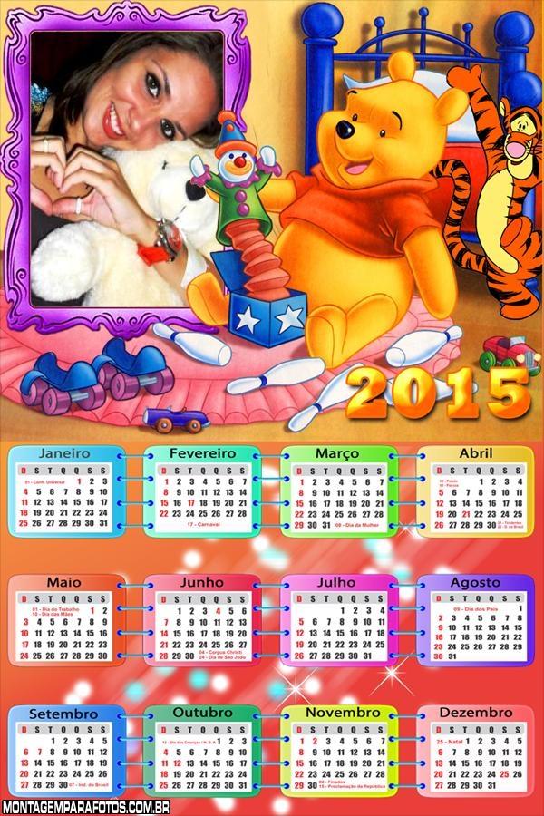Calendário 2015 Infantil