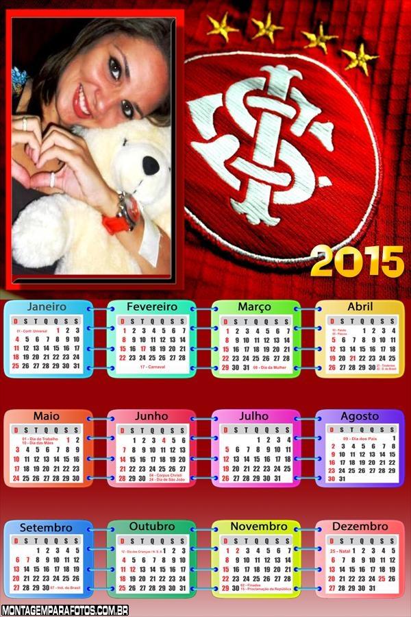 Moldura Calendário 2015 Internacional