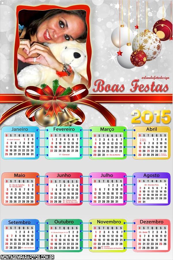 Calendário 2015 Boas Festas