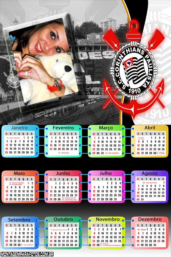 Calendário 2015 do Timão