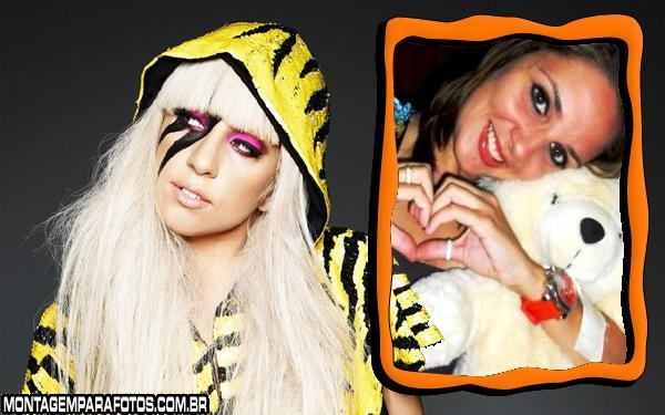 Moldura Beautiful Lady Gaga