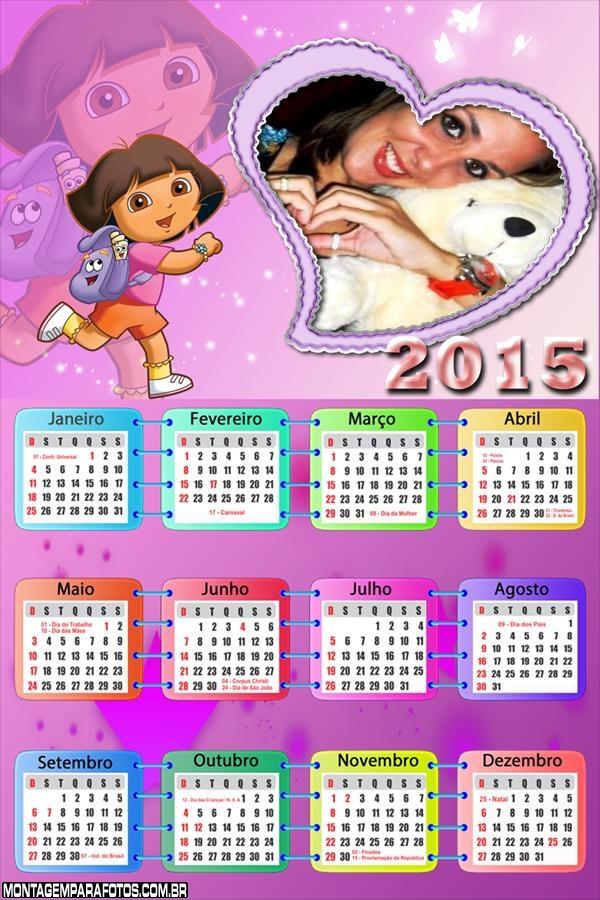 Calendário 2015 Dora