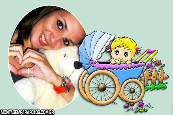 Bebê Loirinha no Carrinho