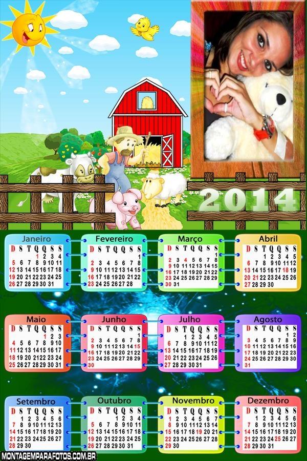 Calendário 2014 Fazendinha