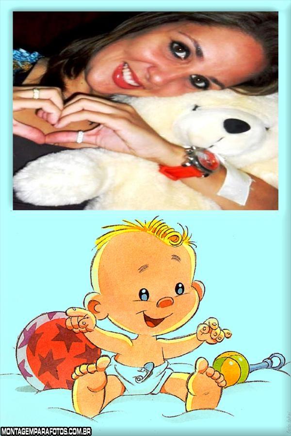 Moldura Bebê Loirinho