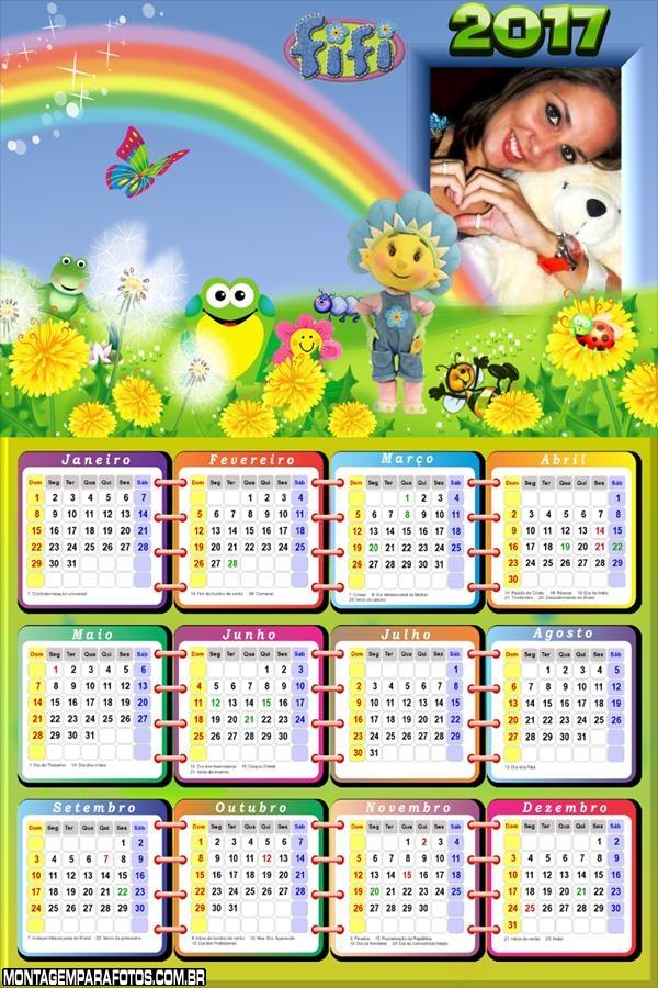 Calendário 2017 Fifi