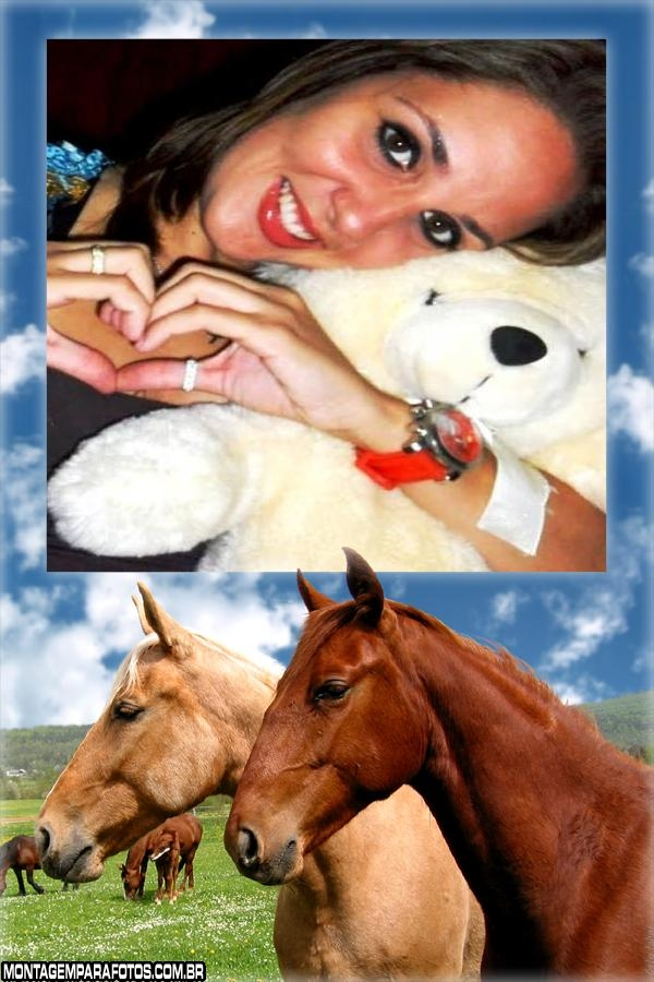 Moldura Casal de Cavalos