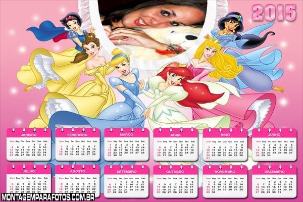 Calendário 2015 Princesas