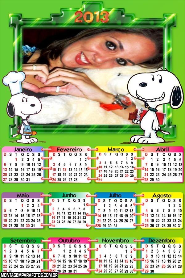 Calendário Snoopy 2013