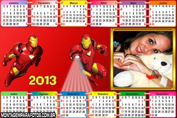 Calendário Homem de Ferro 2013