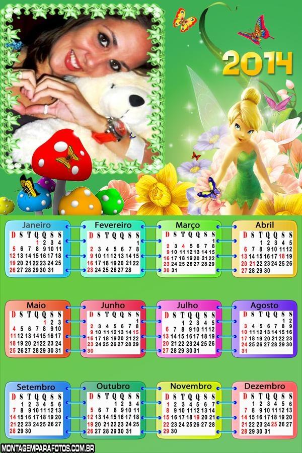 Sininho Calendário 2014 Criança