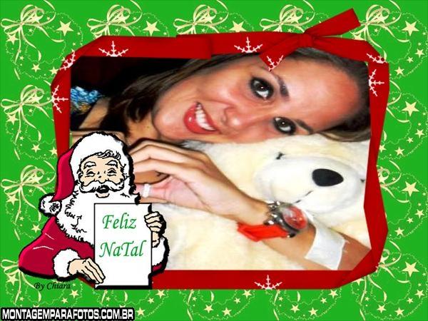 Moldura Papai Noel Feliz Páscoa