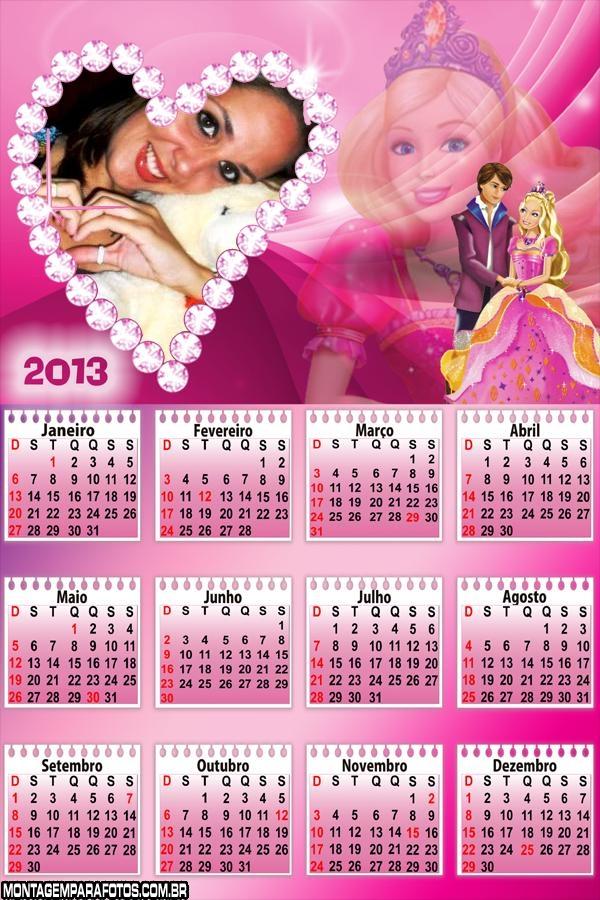 Barbie e Namorado Calendário
