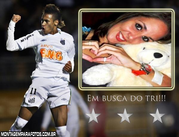 Moldura Neymar no Santos