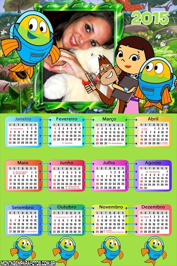 Calendário 2015 Peixonauta