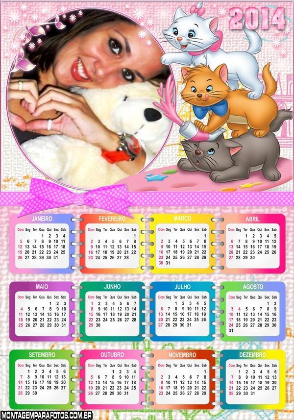 Calendário 2014 Marie e Gatos