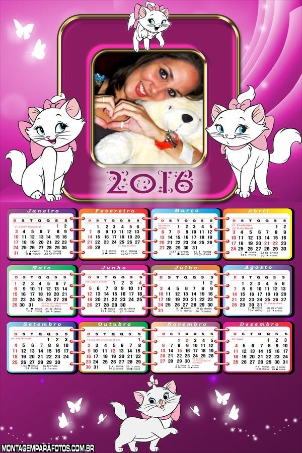 Calendário da Gatinha Marie 2016